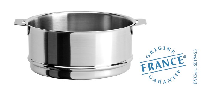 El ment cuit vapeur inox strate amovible cuisson sp cialis e cristel - Panier cuit vapeur inox ...