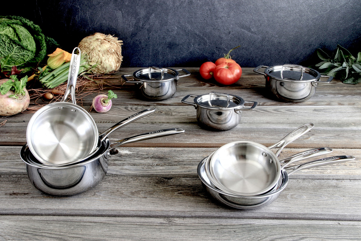 mini faitout inox castel 39 pro casseroles cristel. Black Bedroom Furniture Sets. Home Design Ideas