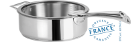 Stainless sauté pan - Fixed Casteline - Cristel
