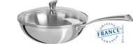 Stainless wok - Fixed Casteline - Cristel