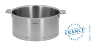 Stainless stock pot - Removable Strate - Cristel