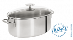 Oval stainless stock pot - Fixed Mutine - Cristel