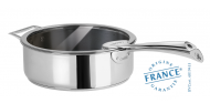 Stainless sauté pan - Exceliss non-stick coating- Fixed Casteline - Cristel