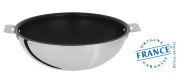 Stainless wok - Exceliss non-stick coating - Removable Casteline - Cristel